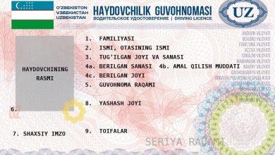 Photo of Новые водительские права в Узбекистане