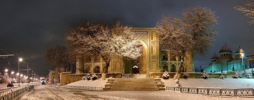 Зима Ташкент Ночь