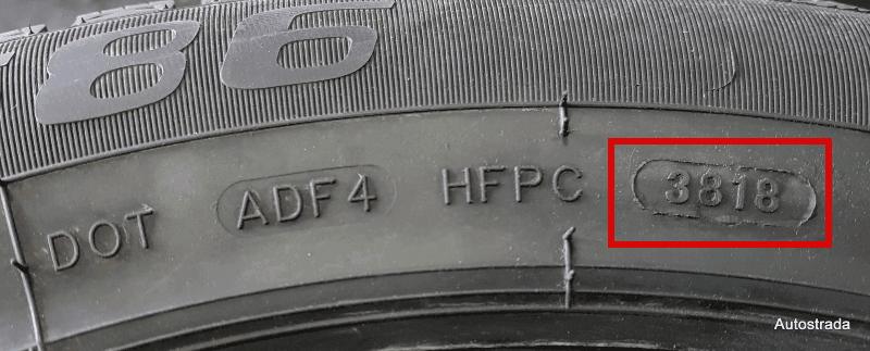 Маркировка DOT с датой производства шины