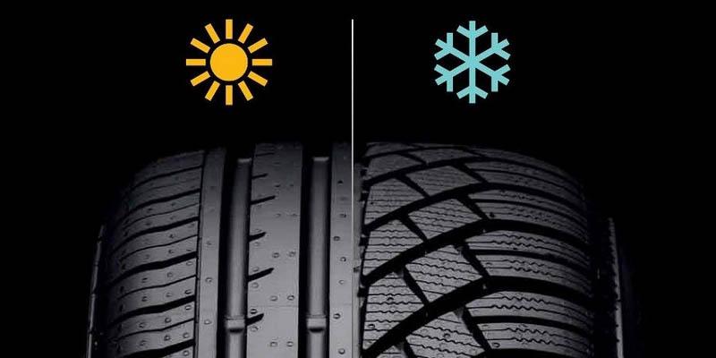Чем отличается зимняя шина от летней?