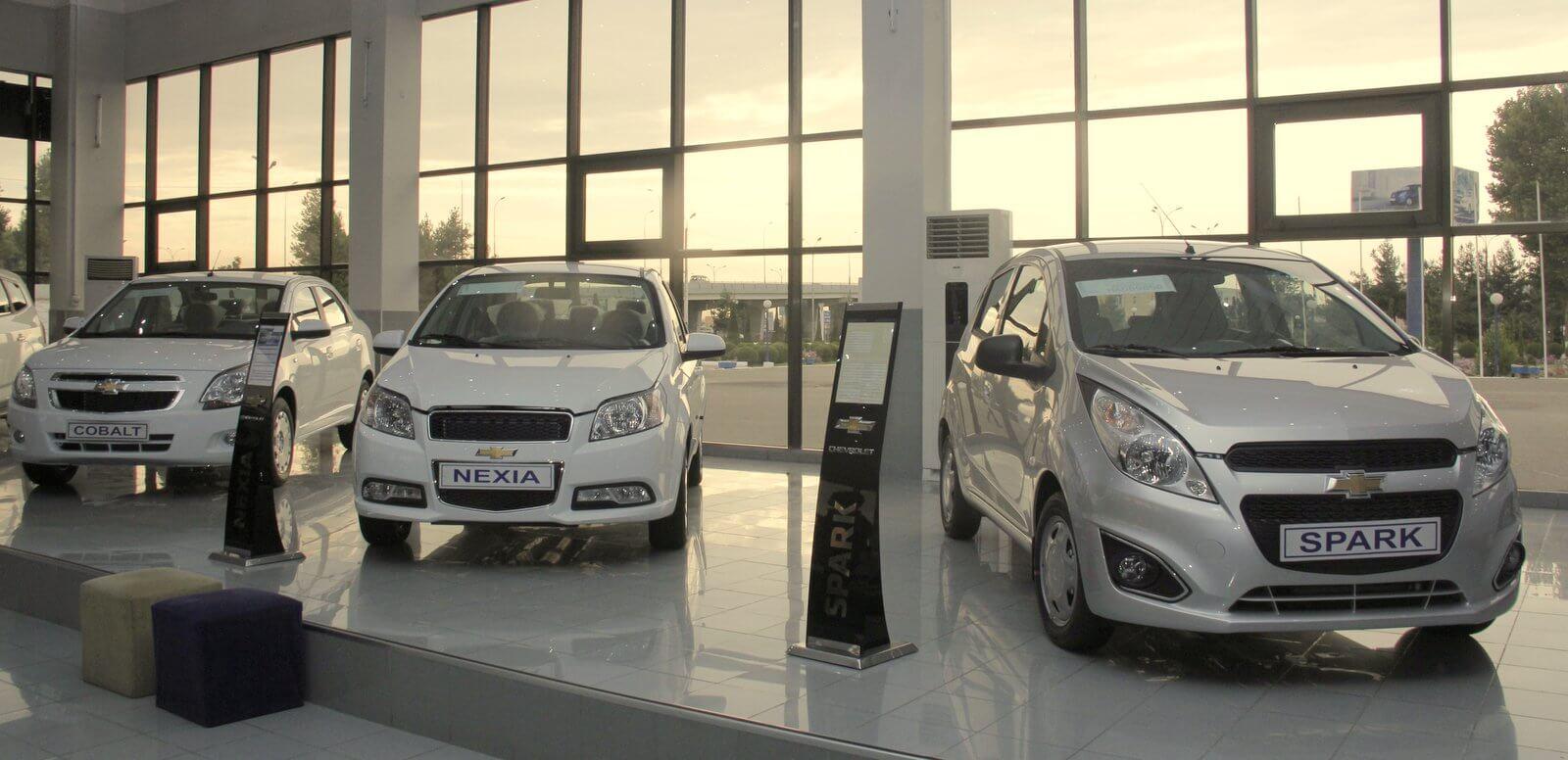 GM Uzbekistan Автосалон Chevrolet Узбекистан