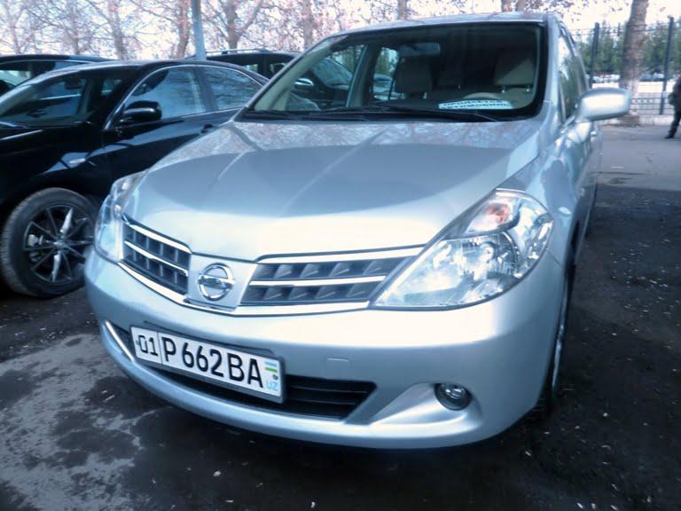 Nissan Tiida, год выпуска: 2009; Пробег: 145 000 км.<br /> Цена: 73 800 000 сумов.