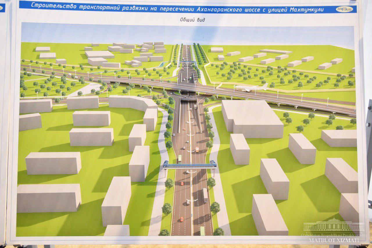 Развязка на Ахангаранском шоссе и улице Паркентской у ТАПОиЧ и Корзинки Авиатор 2