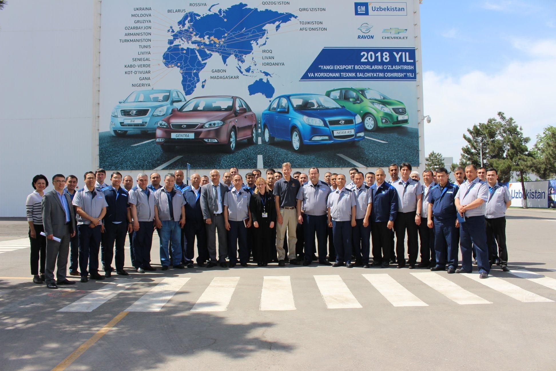 сотрудники GM Uzbekistan