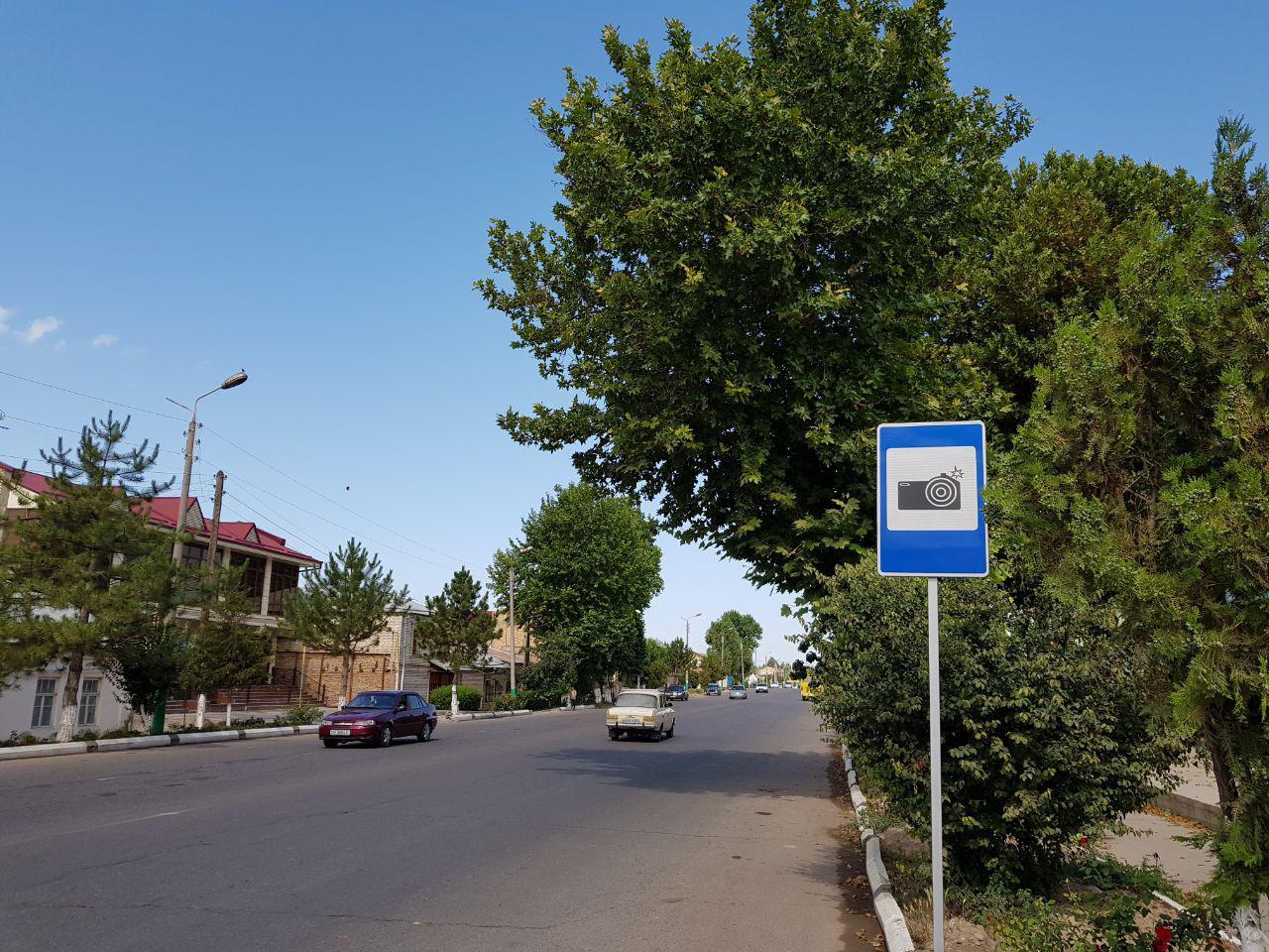 Знак фоторадар в Узбекистане