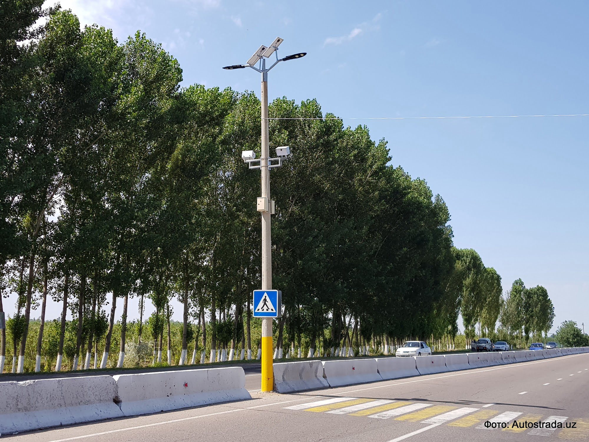 фоторадар на трассе Ташкент-Чарвак в Узбекистане