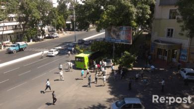 Автобус в Ташкенте влетел в дерево