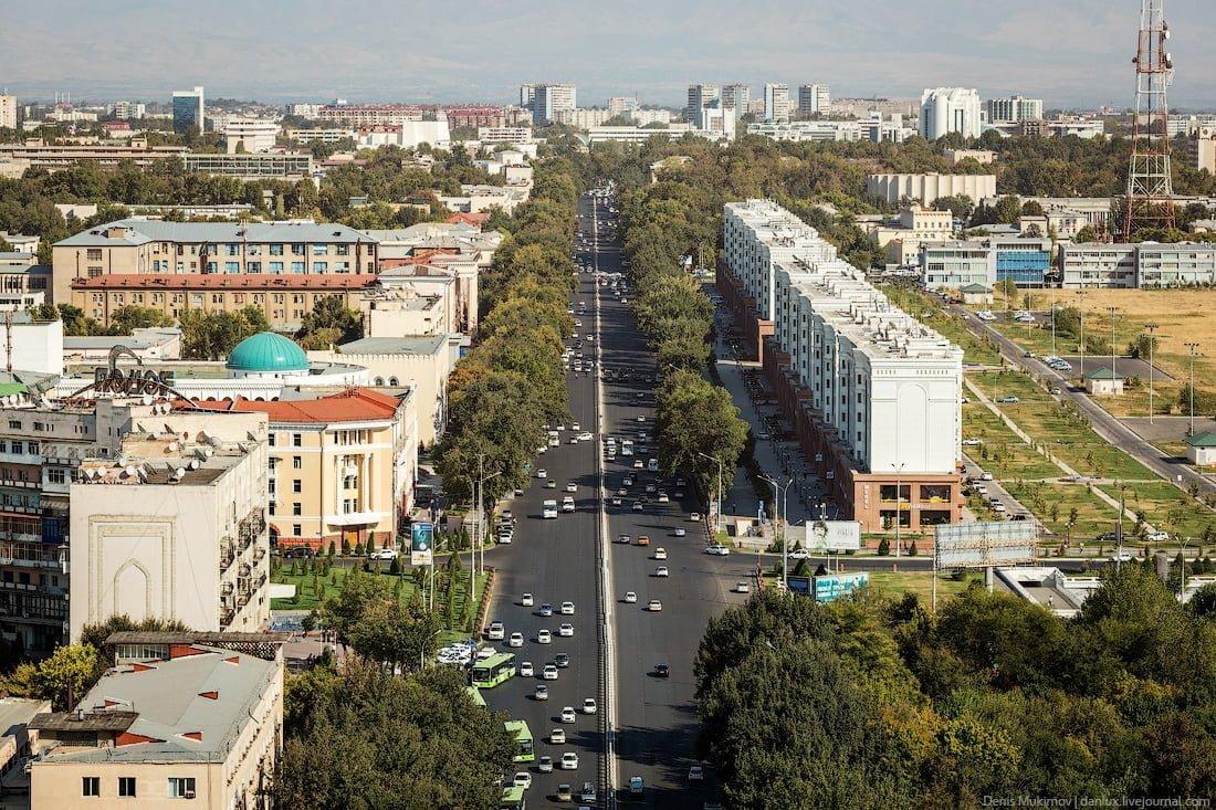 Дороги в Ташкенте проспект Навои