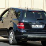 Mercedes-Benz M-Klasse Службы безопасности президента Узбекистана с номером PSS