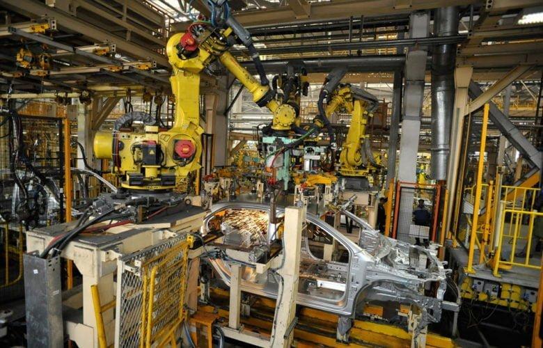 Производство и сварка кузова на заводе GM Uzbekistan