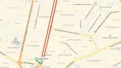 Карта перекрытия улиц Ташкента