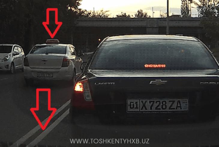 Водитель нарушает ПДД в Ташкенте 2