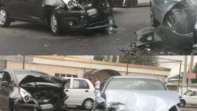 Авария ДТП Спарк и Лачетти в Кибрае Ташкентская область