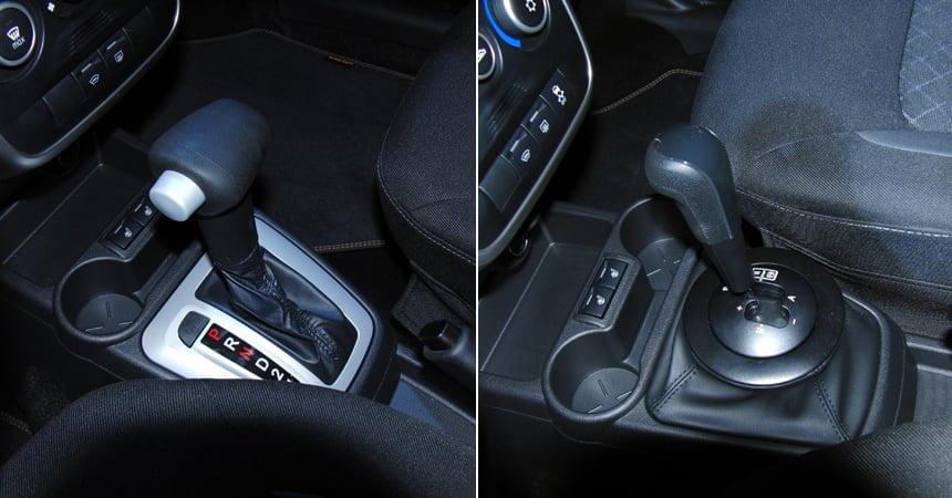 Лада Гранта автоматическая коробка передач Слева — селектор «автомата» Jatco, справа — «робота» АМТ