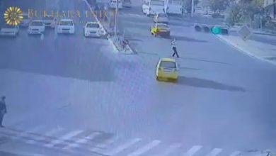 Ужасное ДТП в Бухаре водитель такси сбил пешехода