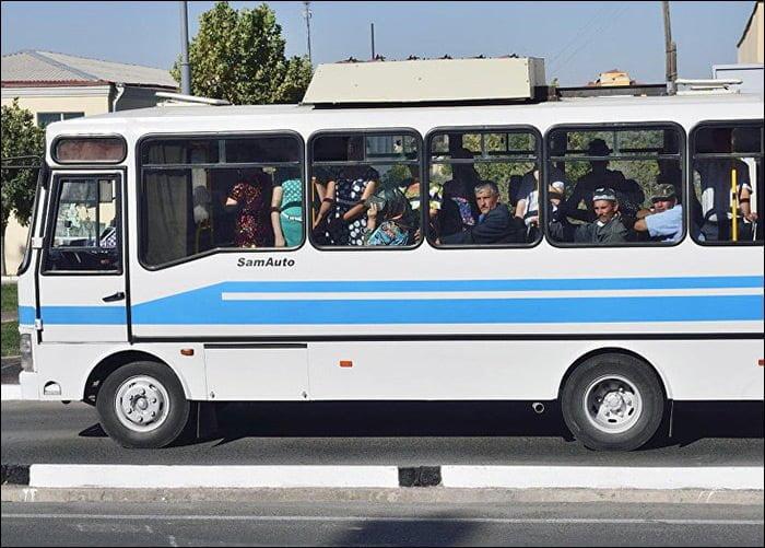 Автобус ISUZU в Узбекистане