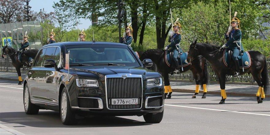 Лимузин Кортеж Владимира Путина в Ташкенте