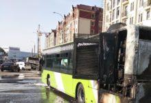 в Ташкенте сгорел автобус - снова Mercedes Benz Low Floor