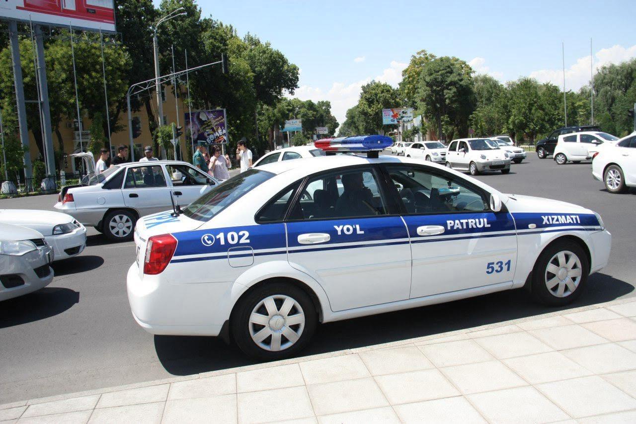 Автомобиль экипажа ДПС в Узбекистане / Иллюстративное фото