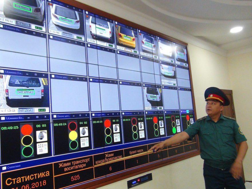 Центр мониторинга дорожной ситуации в ГАИ Узбекистана