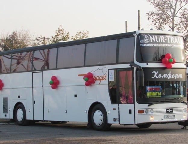 Чирчик-Алма-ата автобусный рейс