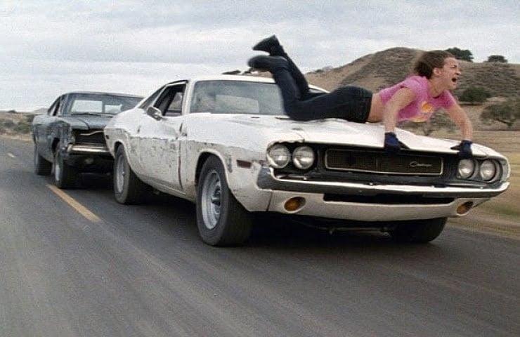 Dodge Тарантино Доказательство Смерти Поездка на капоте Dodge Challenger