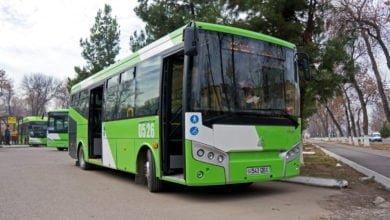 SamAuto SAZ LE60 ISUZU - низкопольный автобус в Ташкенте внешний вид