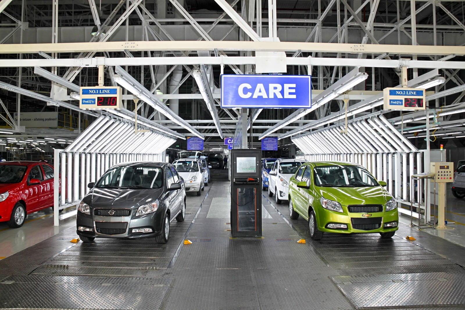 Chevrolet Nexia 3 и Ravon Nexia R3 на заводе GM Uzbekistan