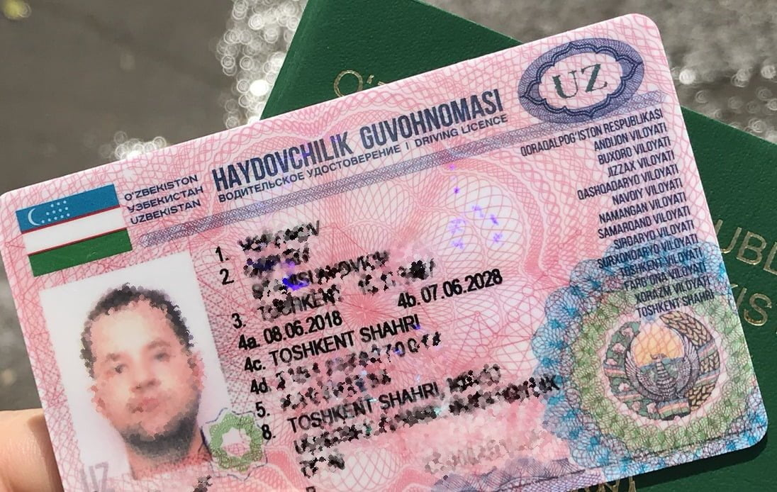 Новые водительские права в Ташкенте Узбекистан