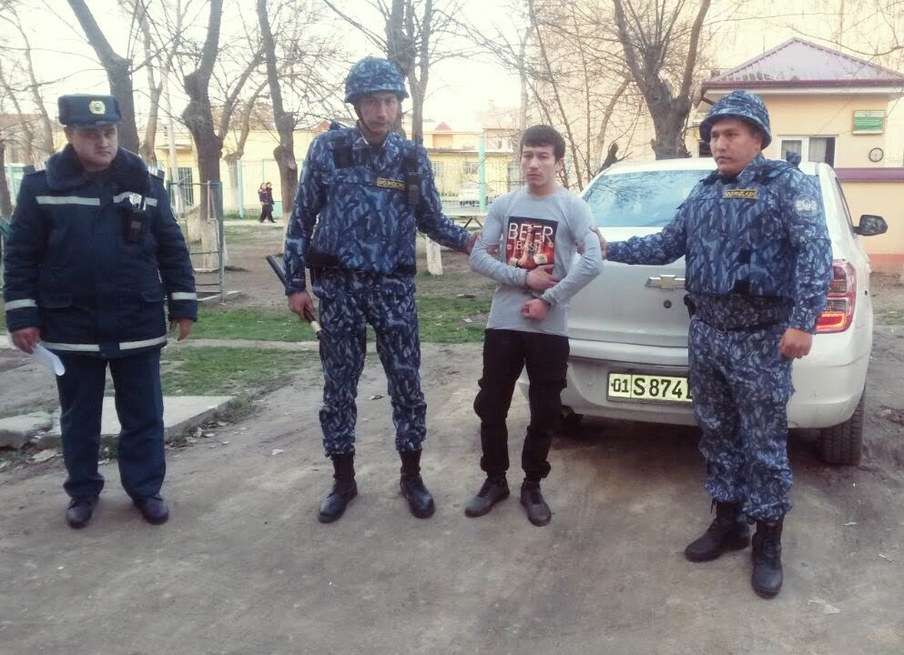 Угон авто в Ташкенте, Узбекистан - угонщика поймала милиция