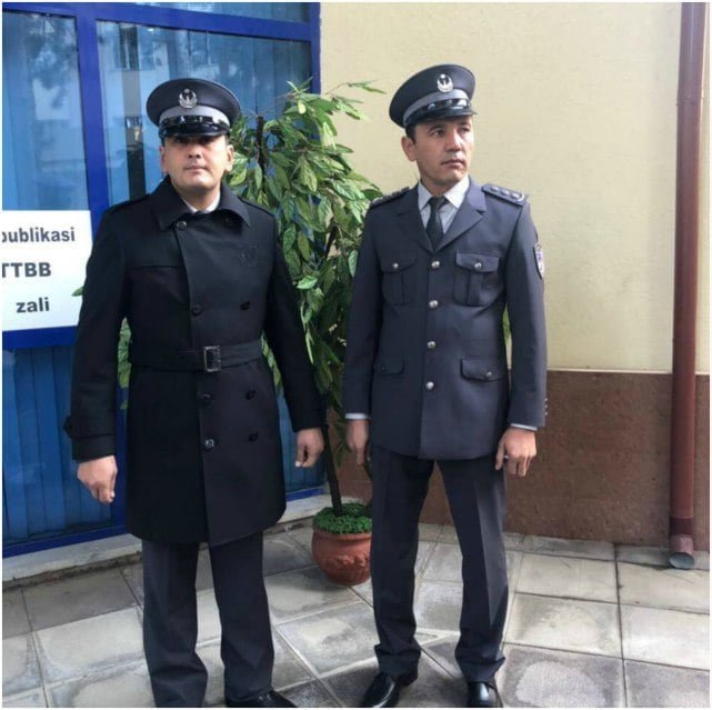 Новая форма сотрудников милиции в Узбекистане