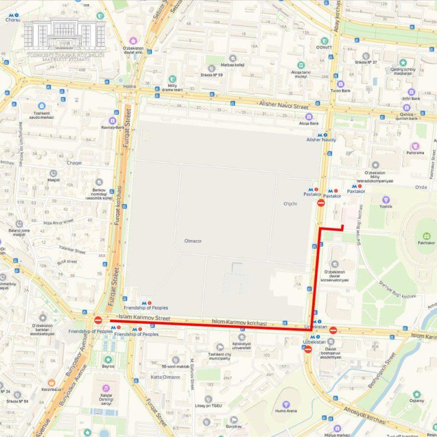В Ташкенте перекроют ряд центральных улиц (карта) — дороги перекроют для проведения конного парада к Международному олимпийскому дню.
