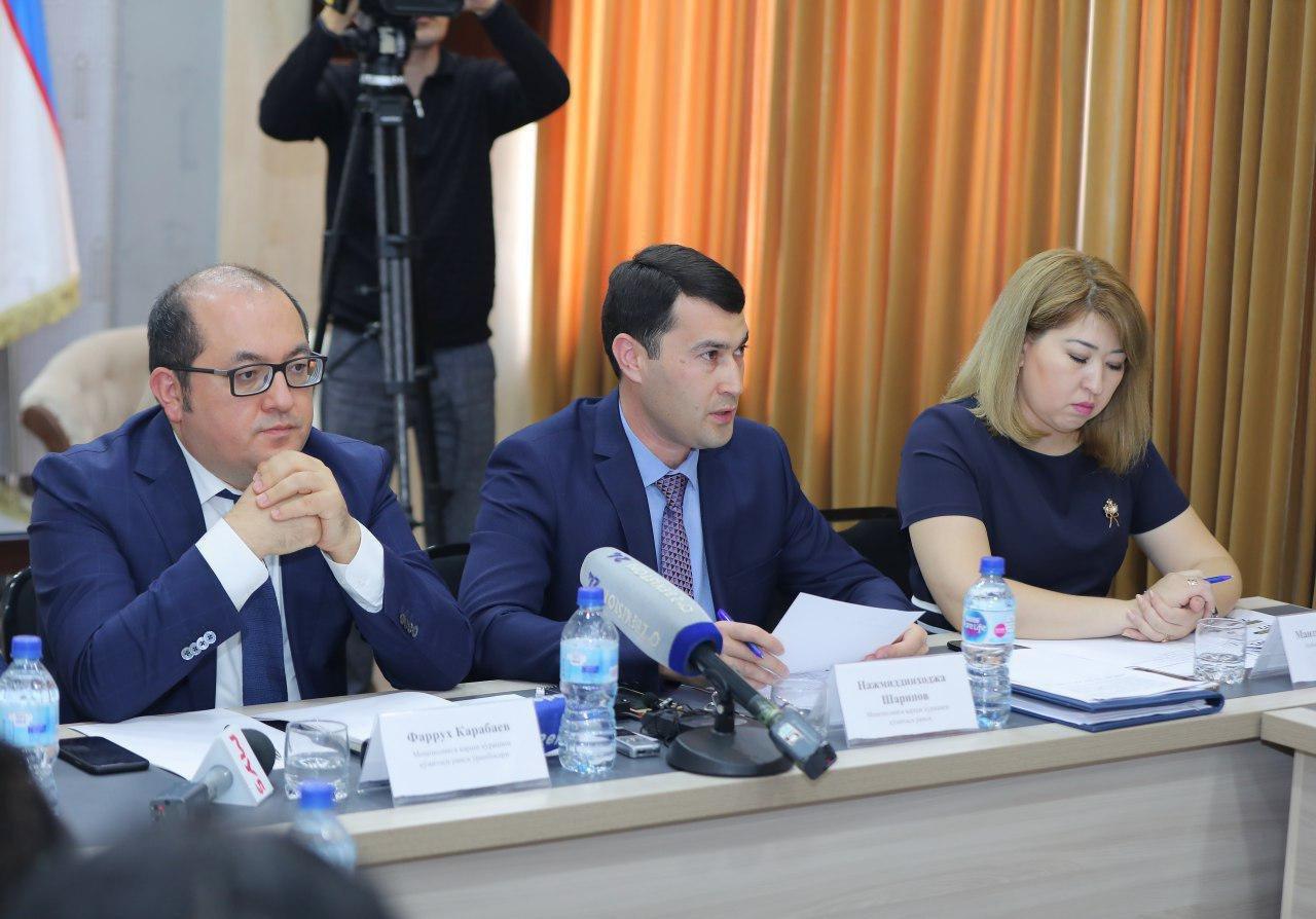 Руководство Антимонопольного комитета: Фаррух Карабаев и Нажмиддинходжа Шарипов (в центре)