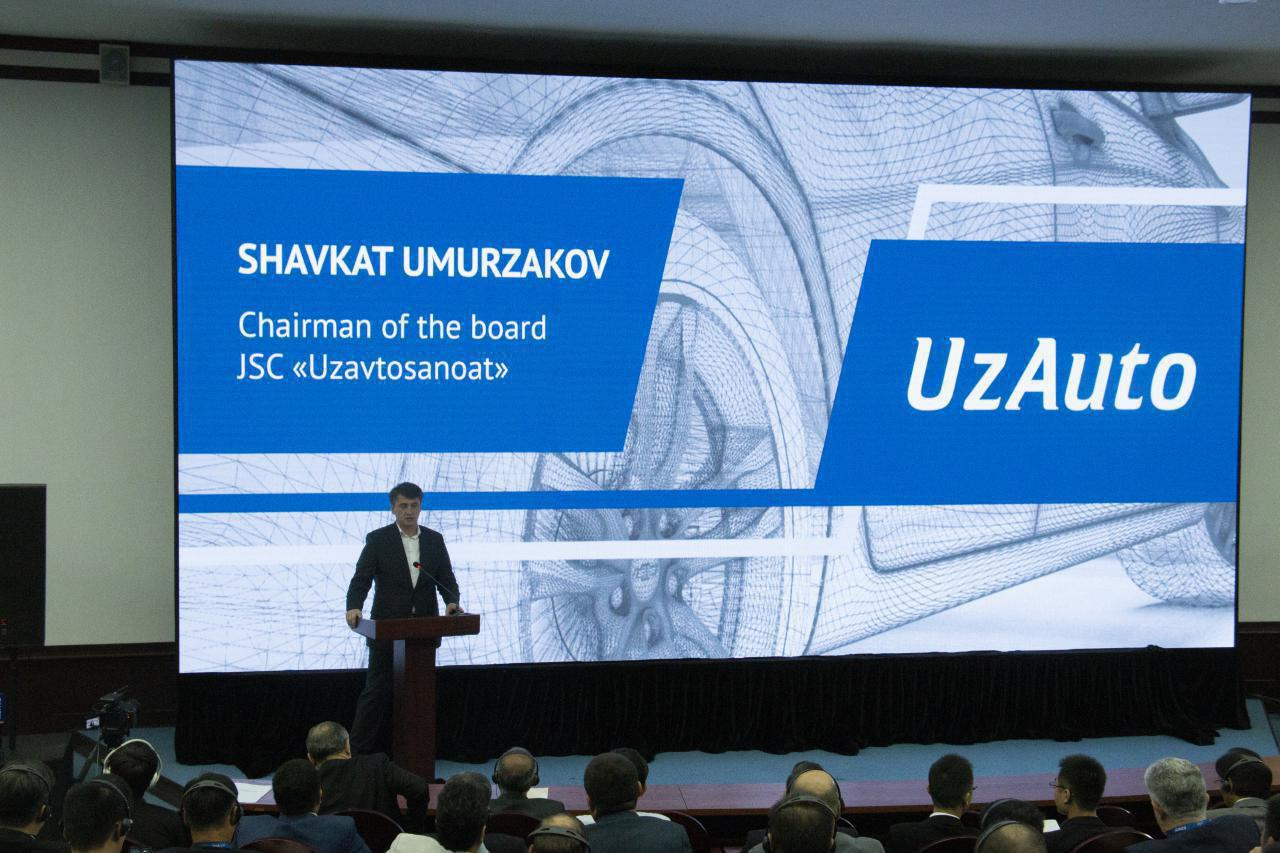 Шавкат Умурзаков выступает на Форуме локализации UzAuto 2019