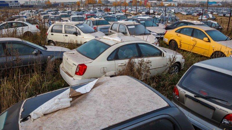 Автомобили Chevrolet на хранении в России