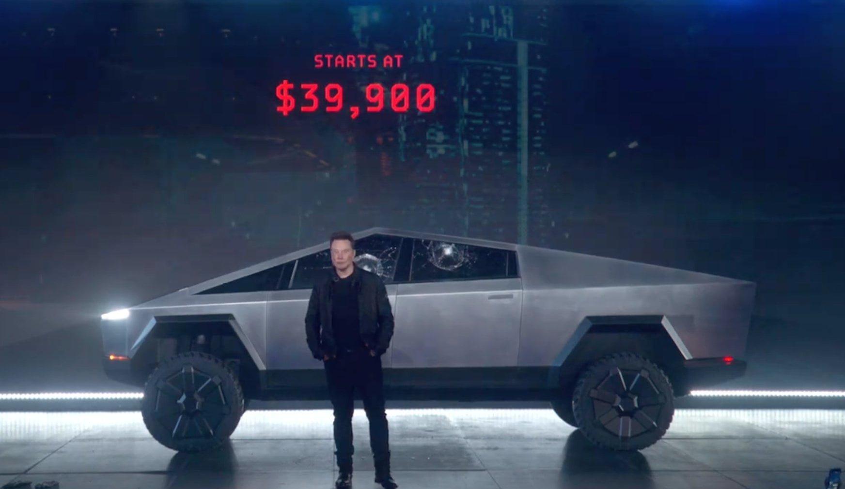 Tesla Cybertruck— бронированный электрический пикап за $40,000