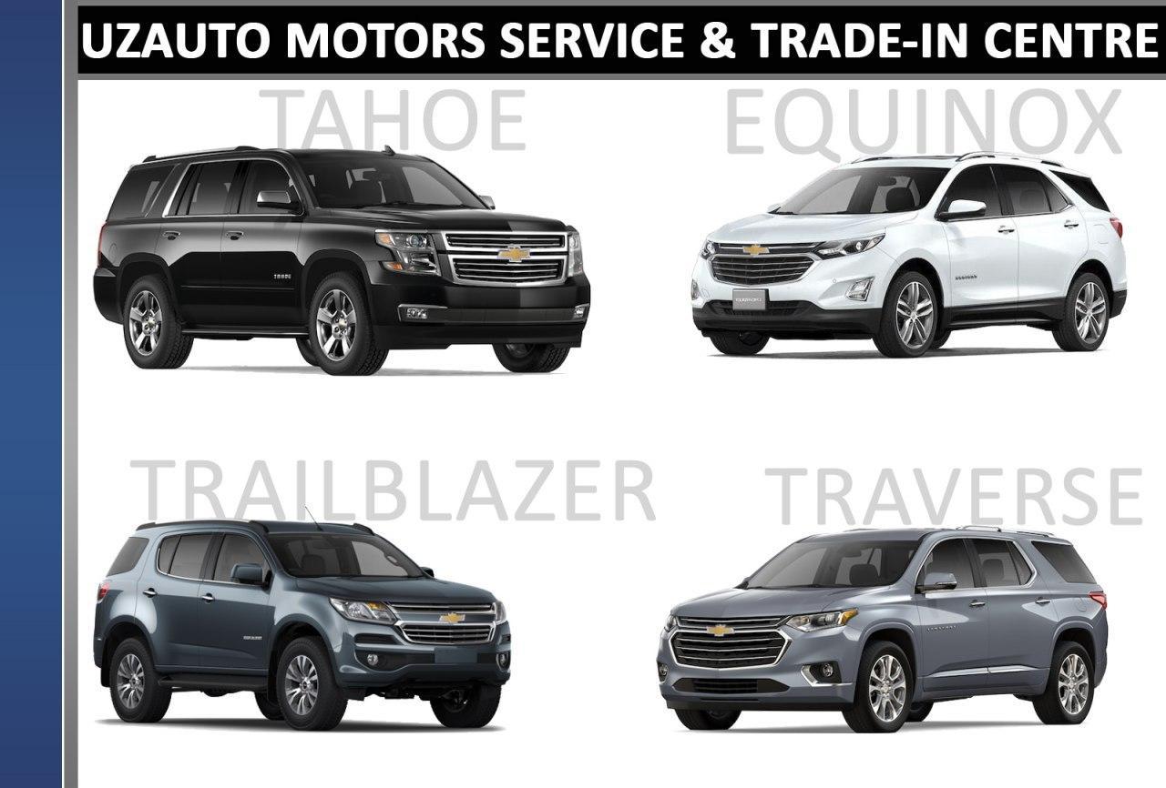 Tahoe, Traverse, Trailblazer и Equinox можно посмотреть в Trade-In Центре в Ташкенте