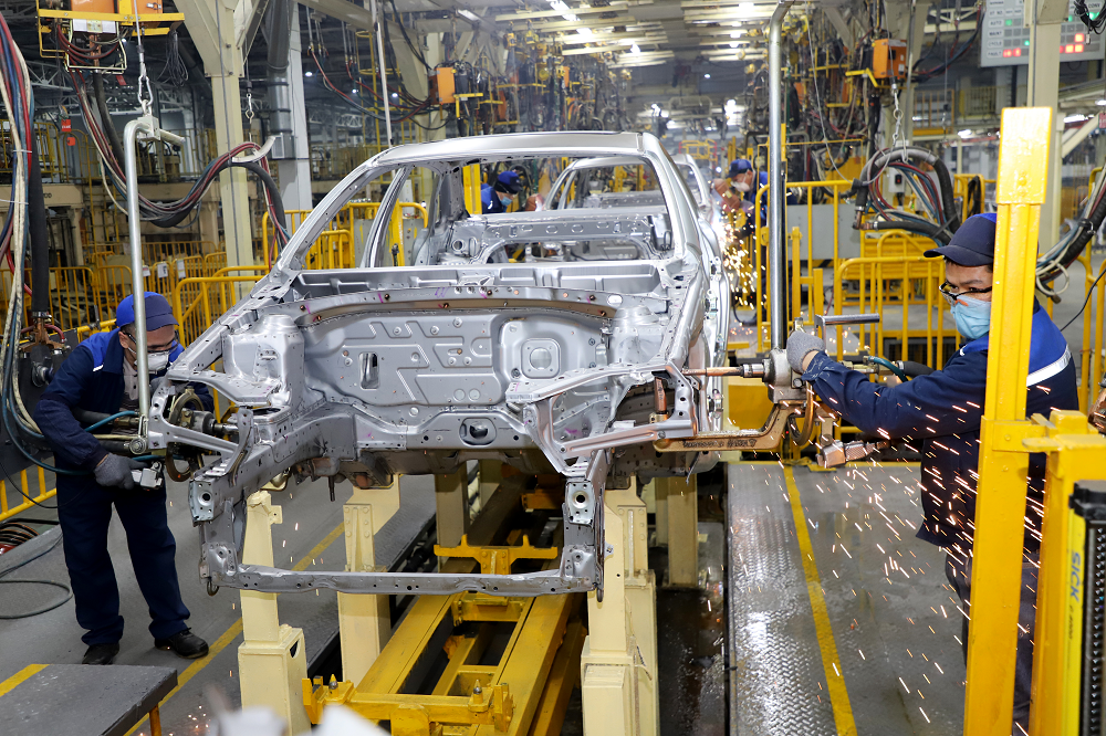 сварочный цех на заводе GM Uzbekistan