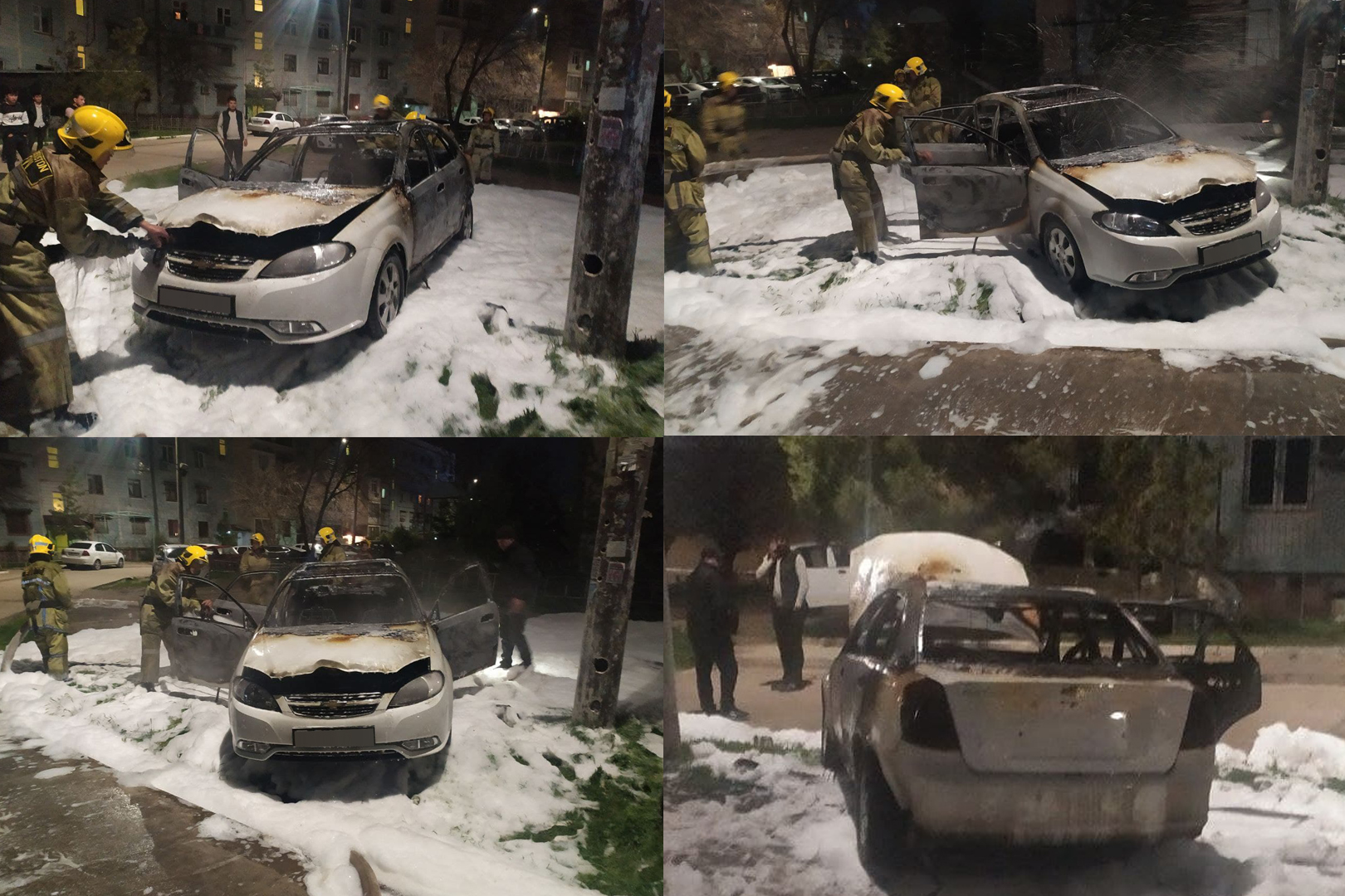 В Ташкенте сгорела Lacetti