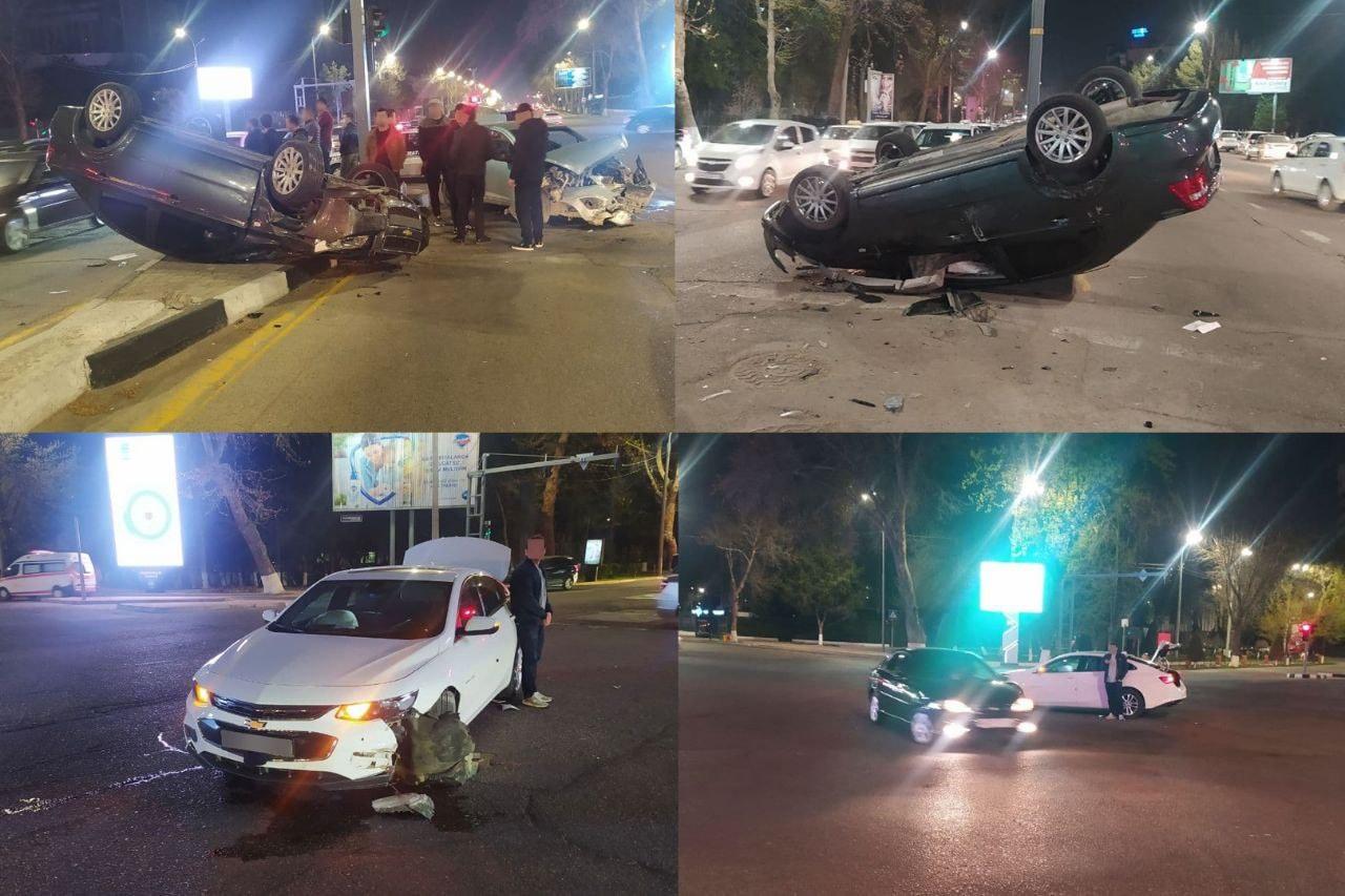 в Ташкенте произошло ДТП с 5 машинами