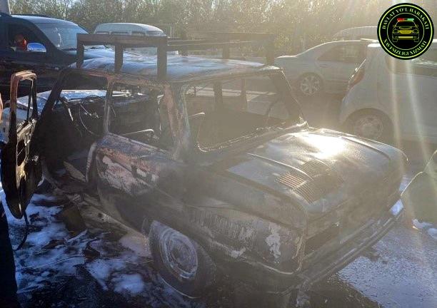 Запорожец сгорел после столкновения с Chevrolet Cobalt